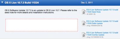 Apple、デベロッパー向けに「Mac OS X 10.7.3 (build 11D24)」リリース