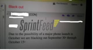 Sprintが10月前半にスタッフの休暇を禁止