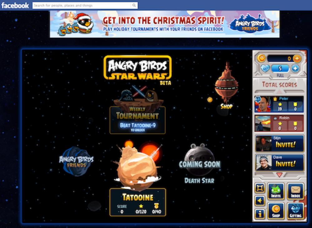 Rovio、Facebook向け「Angry Birds Star Wars」のベータ版をリリース