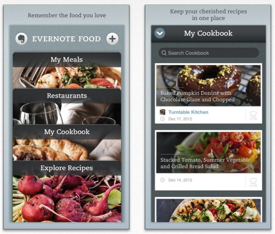 Evernote、デザイン刷新しiPadにも対応した「Evernote Food 2.0」リリース