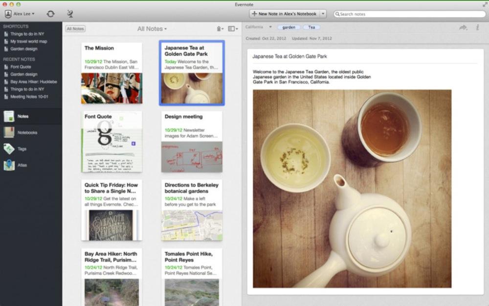Evernote、いくつかの新機能を追加したMac向けアプリ「Evernote 5.0.4」リリース