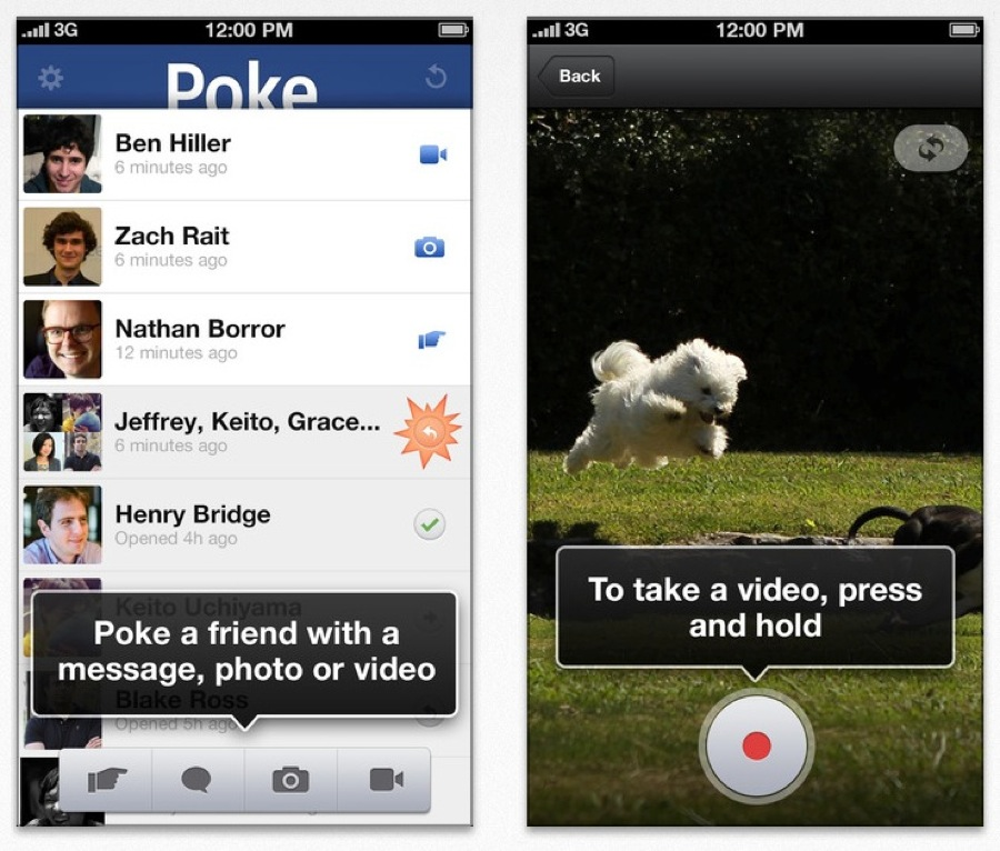 Facebook、iPhone・iPod touchアプリ「Facebook Poke」リリース