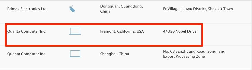 Apple、すでにアメリカのQuanta Computerで「Mac」を生産していることが明らかに