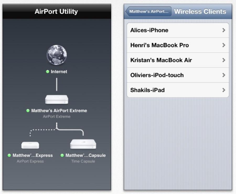 Apple、いくつかの改善やバグの修正をおこなったiOSアプリ「AirMacユーティリティ 1.2」リリース