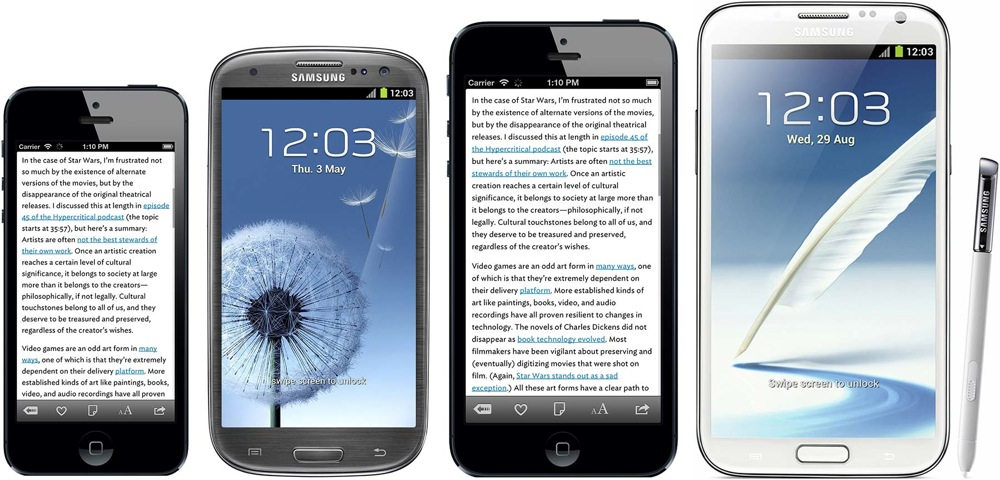 Iphoneplus and samsung extrawide