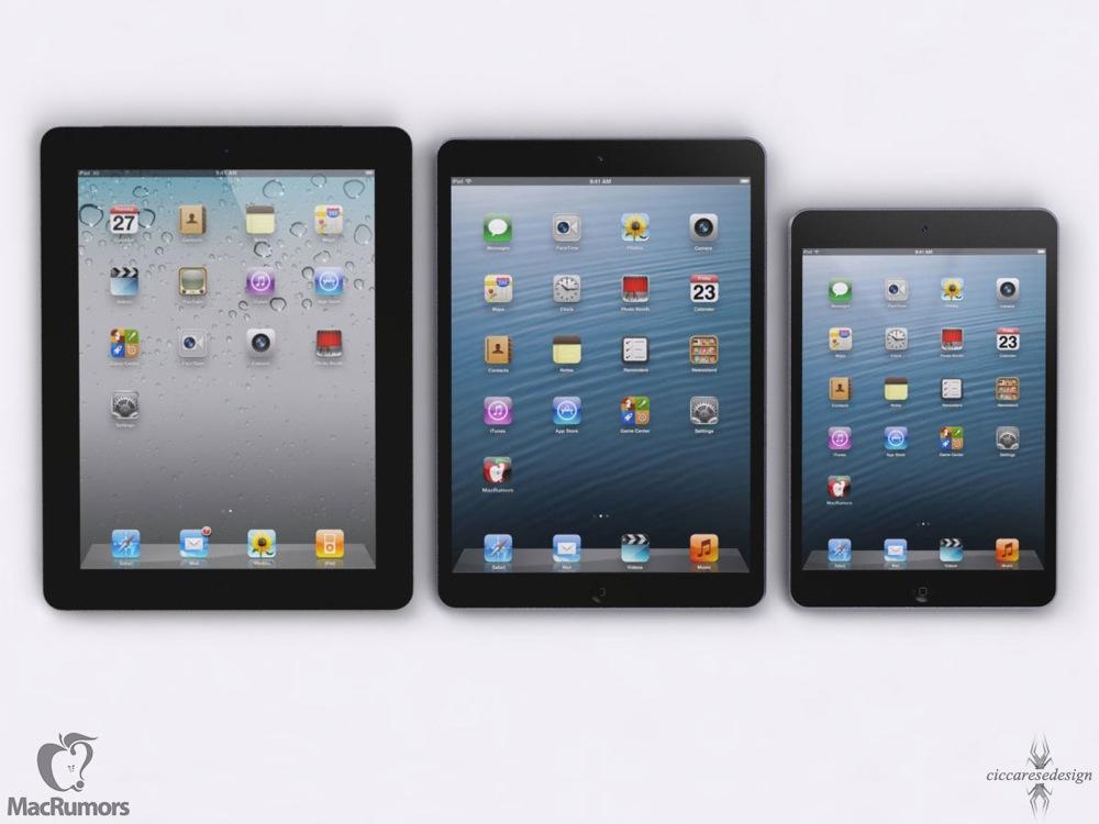 「iPad (第5世代)」と「iPad mini (第2世代)」には「Touch ID」が搭載される!? 「iPad mini (第2世代)」にRetinaディスプレイ搭載は確実な情勢?