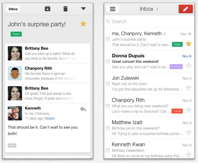 Google、受信トレイでの操作性などを改善したiOSアプリ「Gmail 2.1」リリース