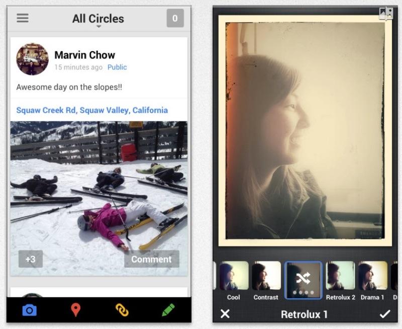 Google、フィルタの追加など新しい写真編集機能などの機能を追加したiOSアプリ「Google+ 4.3」リリース