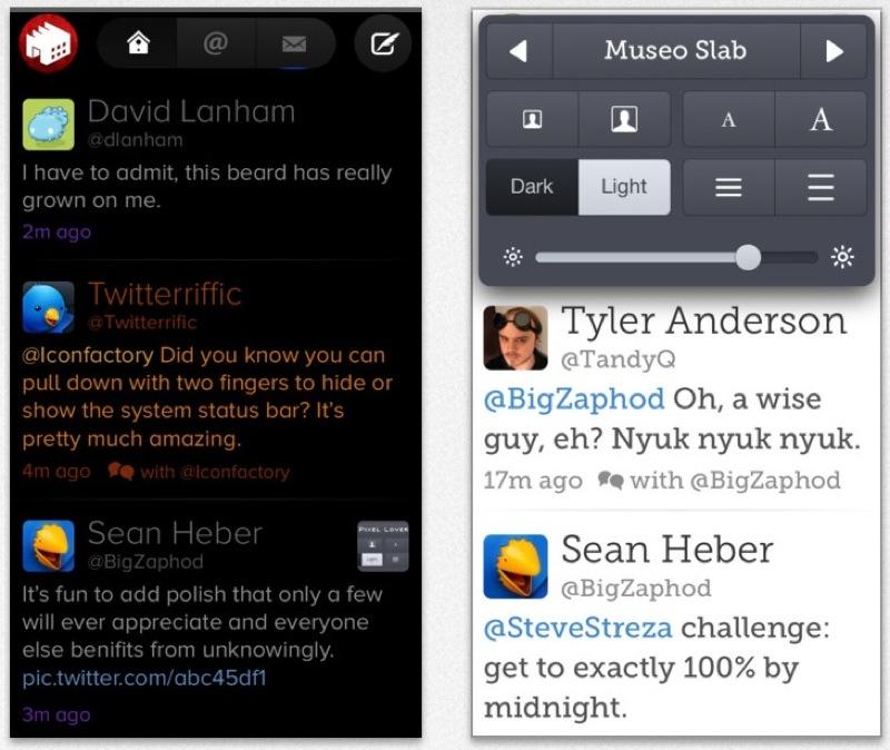 The Iconfactory、プッシュ通知に対応したiOS版Twitterクライアントアプリ「Twitterrific 5.2」リリース