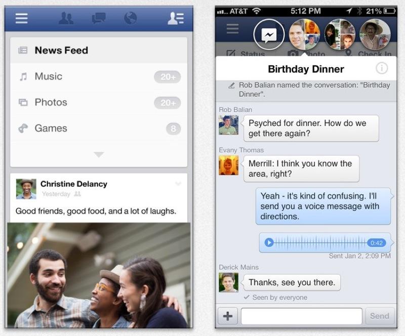Facebook、写真ビューアボタンで、写真を保存などができるようになったiOSアプリ「Facebook 6.1」リリース