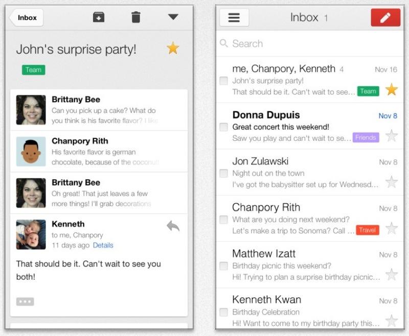 Google、YouTube、Google Maps、ChromeでのリンクをサポートしたiOSアプリ「Gmail 2.2.7182」リリース