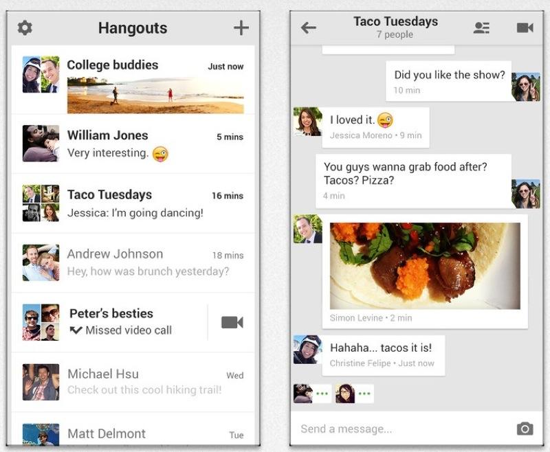 Google、写真や絵文字、ビデオ通話などができるメッセージアプリ「ハングアウト」のiOS版をリリース