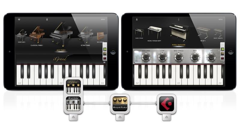 IK Multimedia、iOSアプリ「iGrand Piano」「iLectric Piano」がAudiobusに対応と発表
