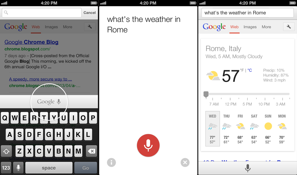 Chrome for iOS  Voice Search