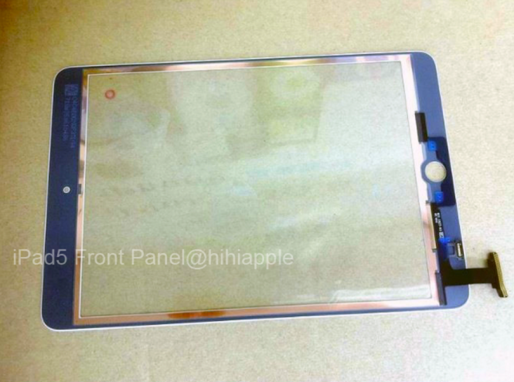 Ipad 5 front glass panel