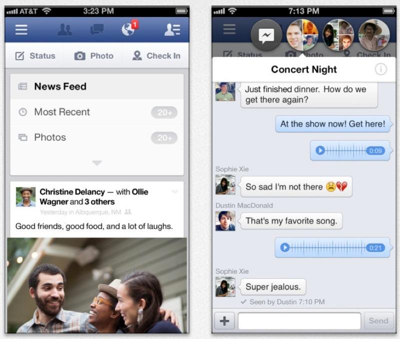 Facebook、iOS向けアプリ「Facebook 6.3」リリース