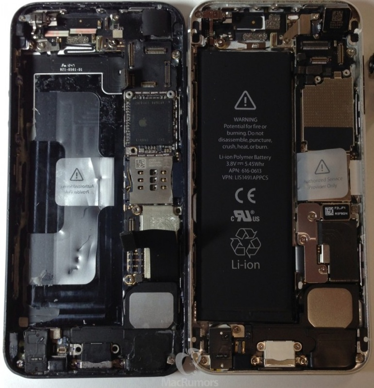 Iphone 5S 5 side by side 800x830