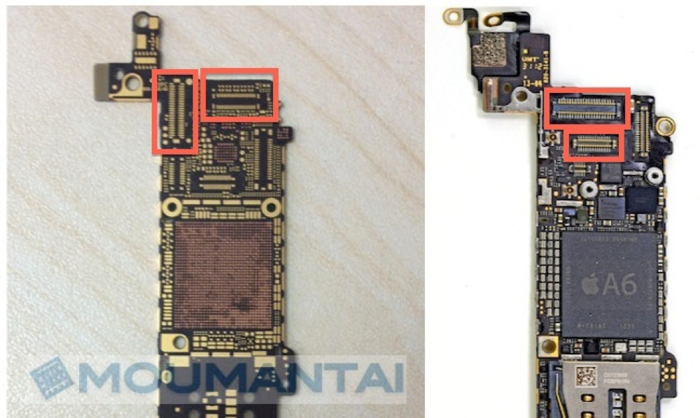 Iphone 5s 5 logic boards front top