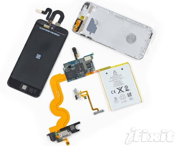 iFixit、「iPod touch (第5世代) 16GB」のバラシレポートを公開