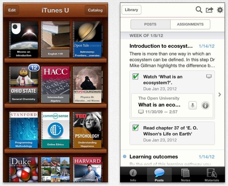 Apple、いくつかの問題を修正したiOSアプリ「iTunes U 1.3.1」リリース
