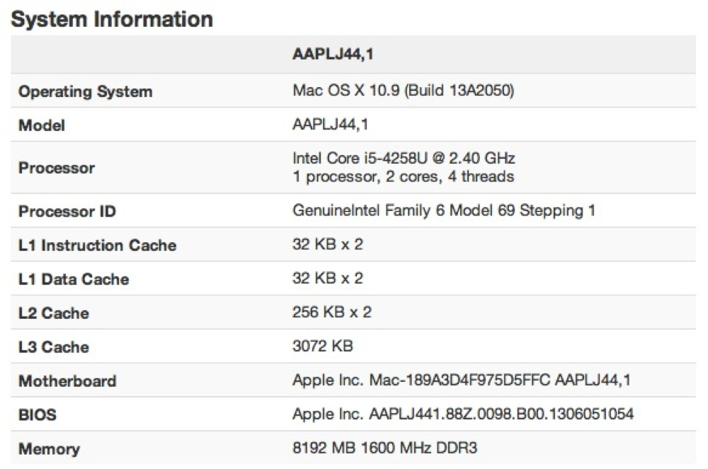 Macbook pro 13 2013 geekbench