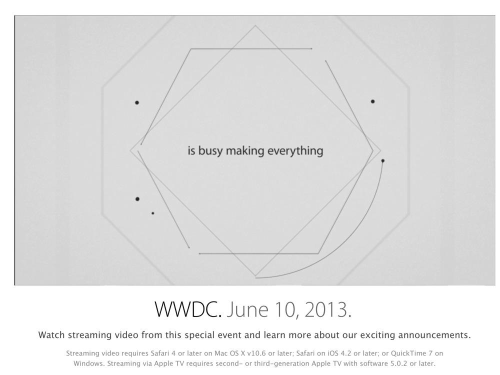 Apple、「WWDC 2013」の基調講演のアーカイブを公開