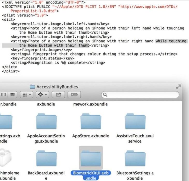 「iOS 7 beta4」の中に指紋認証センサーに関する記述が見つかる!?