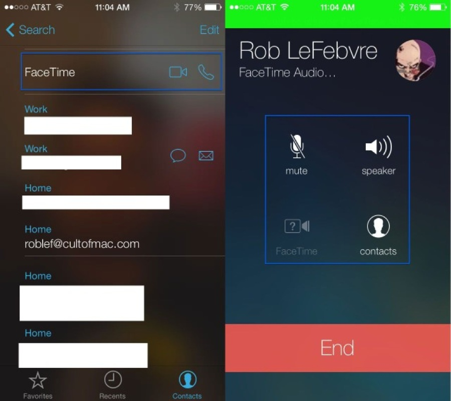 Facetime audio only 640x568