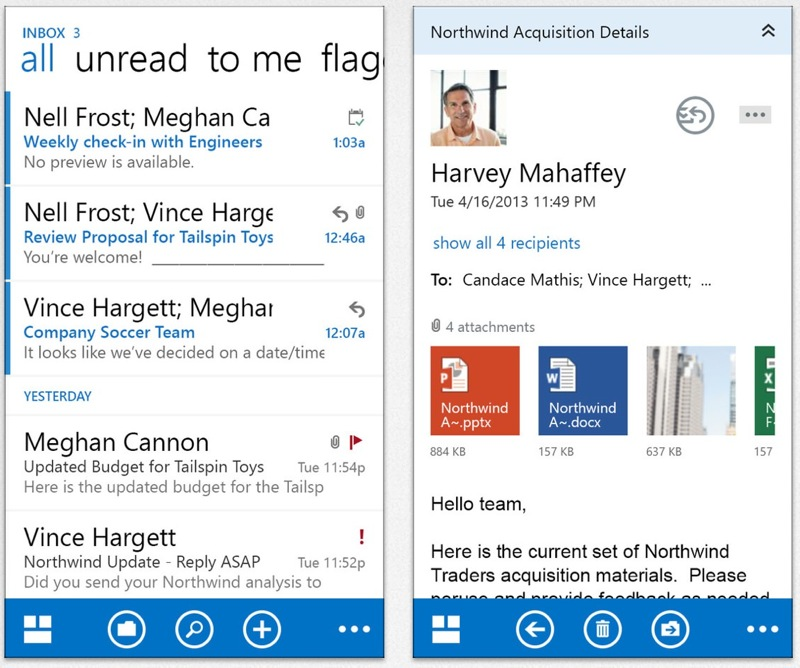 Microsoft、Office 365ユーザー向けOutlookアプリ「OWA for iPhone」「OWA for iPad」リリース