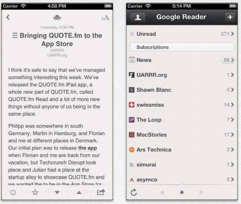定番RSSリーダーアプリ「Reeder」、「Feedly」と「Feed Wrangler」に対応したiPhone版「Reeder 3.2」リリース