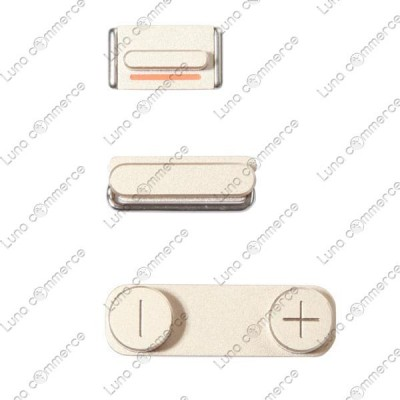 Apple iphone 5s champagne button set original new 3pcs set