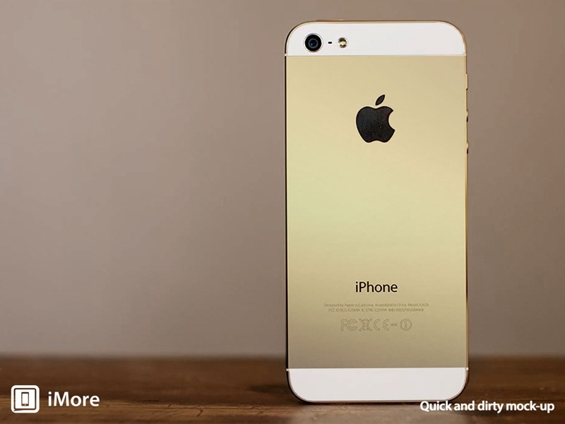Gold iphone 5s mockup imore fixed