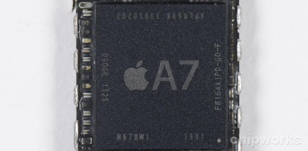 「iPhone 5s」に搭載されている「A7」プロセッサはサムスン製、「M7」はNXPセミコンダクターズ製