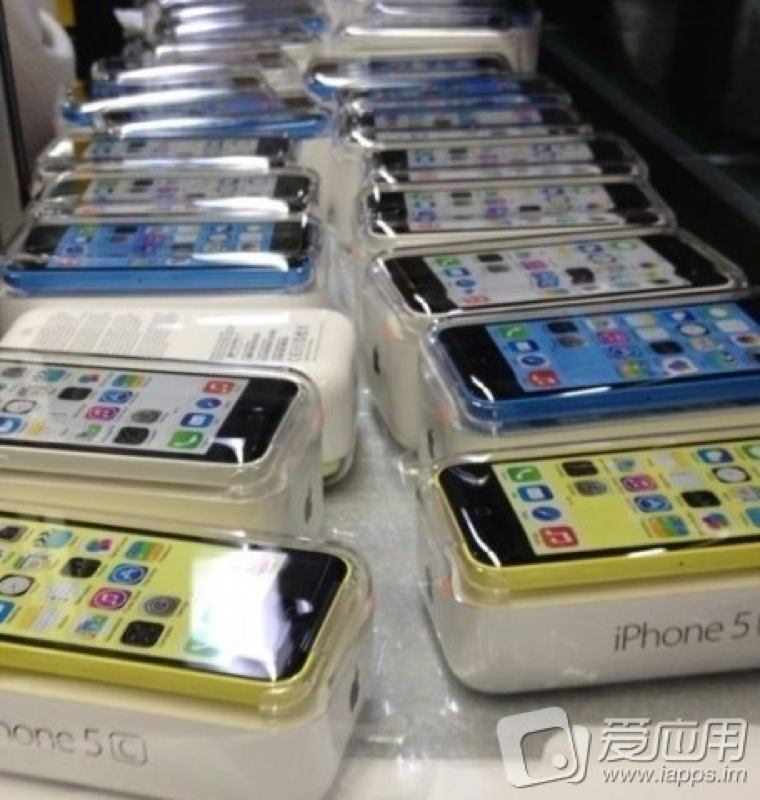 Blue white yellow iphone 5c packaged