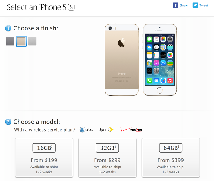 Iphone5sonlinestore