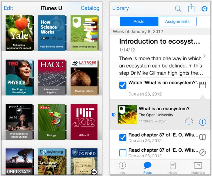 Apple、iOS 7用にアップデートした「iTunes U 1.4」リリース