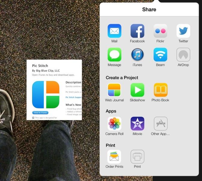 iOS向け「iPhoto」内にあるアイコンが人気アプリのアイコンに似ている!?