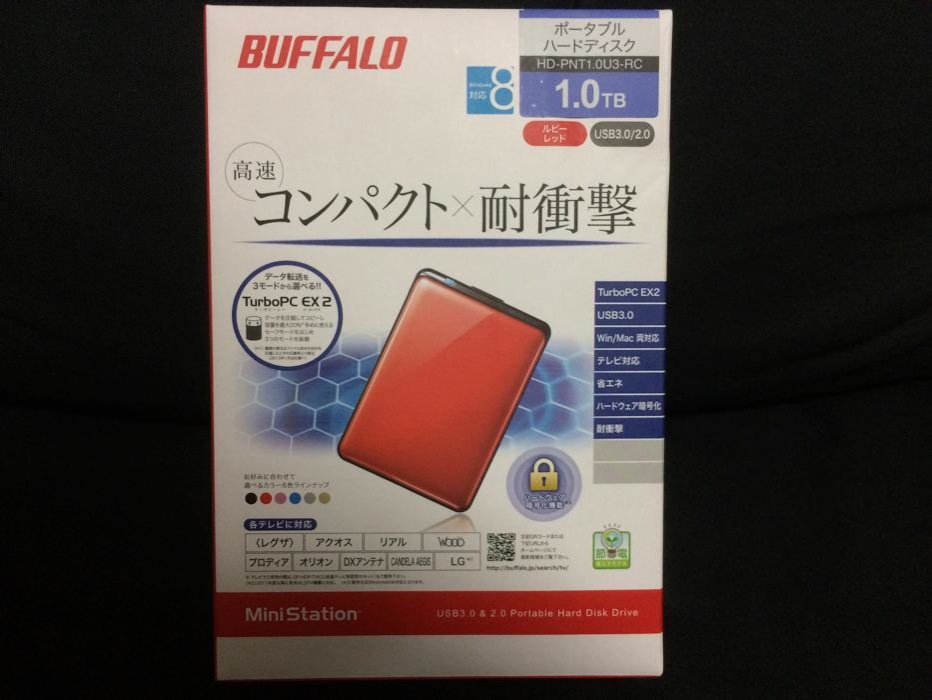 Buffalo、Macでも使えるUSB 3.0対応ポータブルHDD「HD-PNT1.0U3」をチェックしてみた