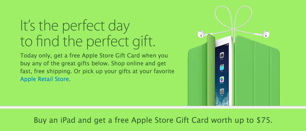 アメリカでもApple Online Storeでブラックフライデーセールが開始、ギフトカードを提供