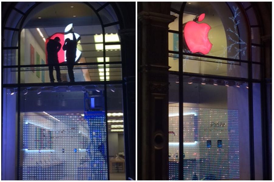 Apple、世界エイズデーに合わせてApple Retail Storeのロゴを赤色に