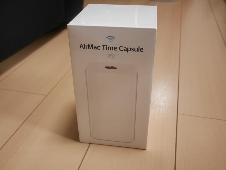 初売りで購入した「AirMac Time Capsule 2TB」をチェック