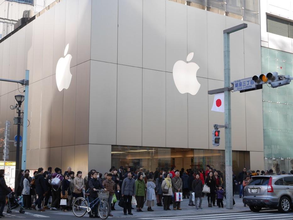 2014年、「Apple Store,Ginza」の初売りに行ってきた