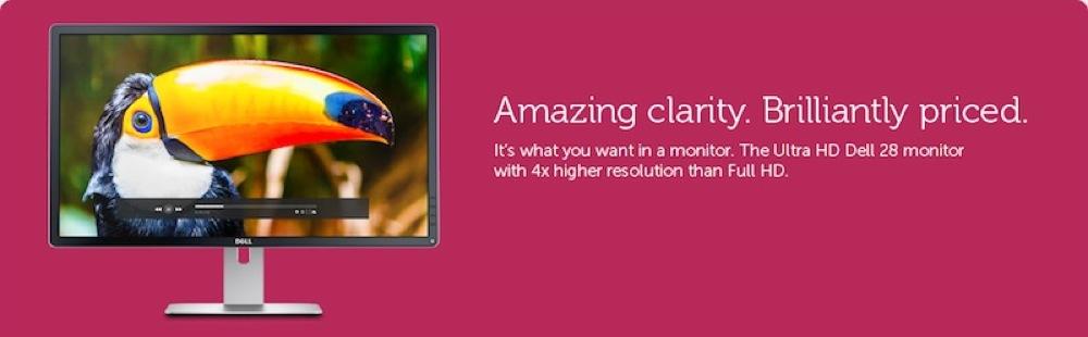 Dell、28インチ4K対応ディスプレイ「P2815Q」を2014年1月23日に発売