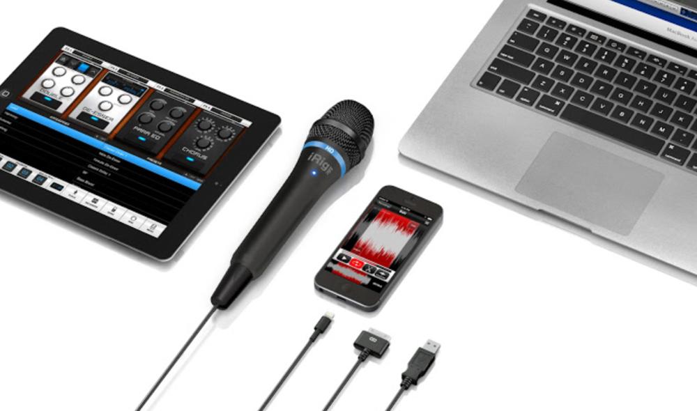 IK Multimedia、iPhone、iPad/Macに対応したデジタル・ハンドヘルド・マイクロフォン「iRig Mic HD」を発表