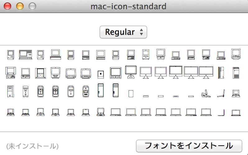 AppleのMac 30周年記念サイト「Thirty Years of Mac」には、Macアイコンフォントが隠されている