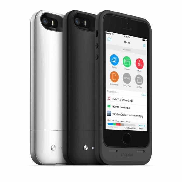 mophie、バッテリーとストレージを内蔵した「iPhone 5/5s」用ケースを発表