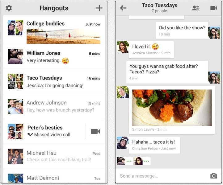 Google、iOS 7向けに最適化、iPadに完全対応するなどしたiOSアプリ「ハングアウト 2.0.0」リリース