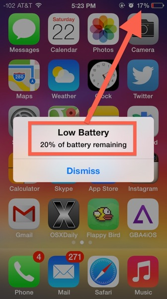 Rapid battery drain iphone