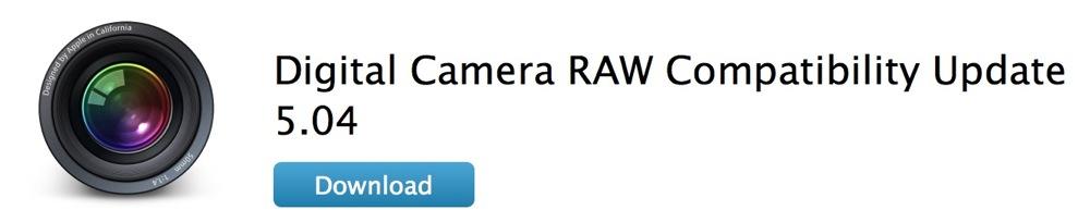 Apple、「デジタルカメラ RAW 互換性アップデート 5.04」リリース