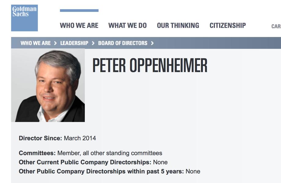 AppleのPeter Oppenheimer CFOがGoldman Sachsの社外取締役に就任